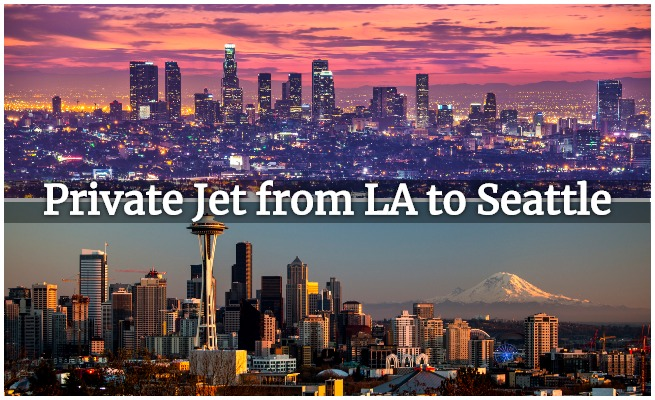 private jet los angeles to seattle