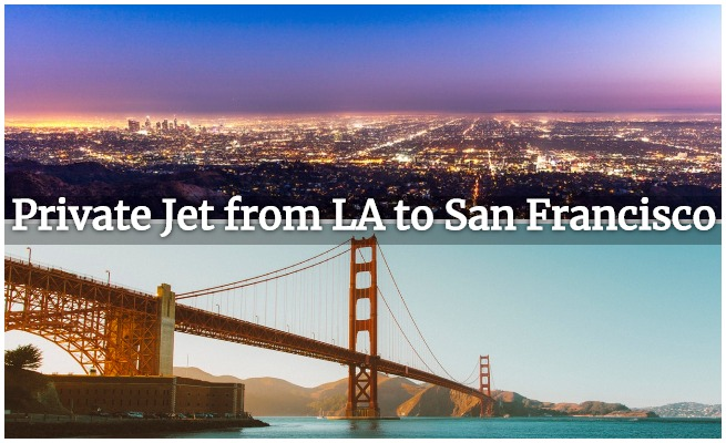 private jet charter la to sf