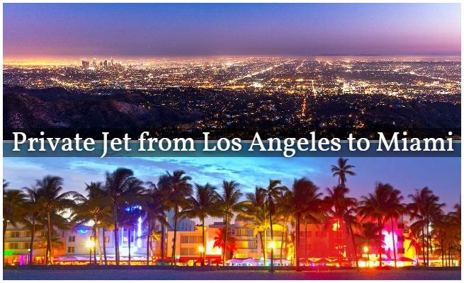 private jet LA to Miami